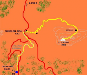 Subida a El Torozo desde la localidad de Cuevas del Valle
