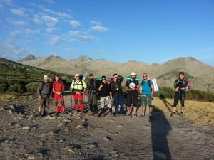 Foto del grupo en el alto de los Barrerones