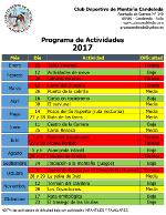 Calendario de Actividades 2017