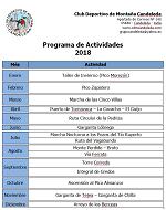 Calendario de Actividades 2018